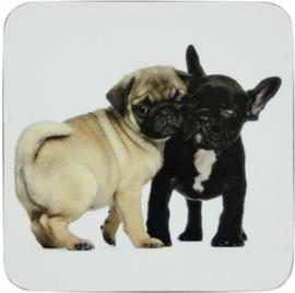 Onderzetters Pug & French Bulldog