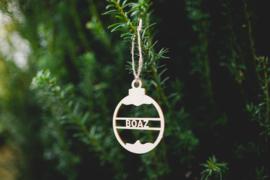 Kerstbal hout  | Naam
