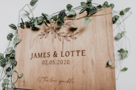Welkomstbord Lotte | hout
