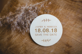 Onderzetter | save the date