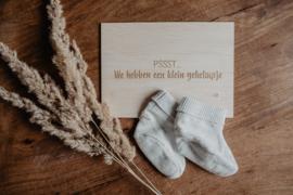 Houten kaart | Psssst.... jullie worden opa & oma!