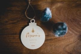 Kerstbal hout | Eerste kerst