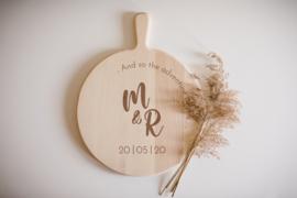 Borrelplank rond | bruiloft