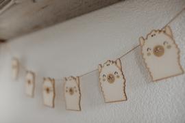 Houten alpaca slinger