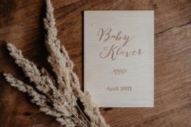Houten kaart | zwangerschapsaankondiging Baby ...