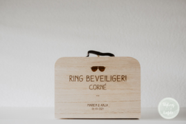 Ring security koffertje | hout