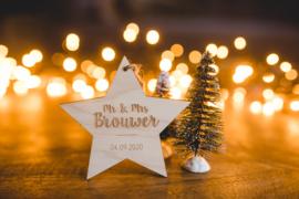 Kerstbal hout | Mr & Mrs