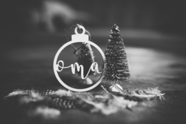 Kerstbal hout    Naam