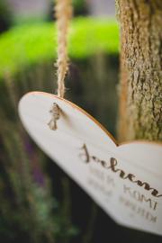 '[NAAM] Hier komt jouw bruid' bord!