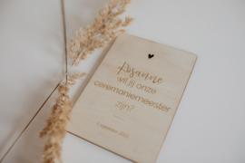 Houten kaarten | ceremoniemeester
