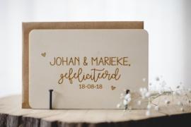 Houten kaarten | bruiloft