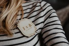 Houten corsage | gepersonaliseerd