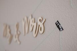 Houten slinger | Mr & Mrs + achternaam