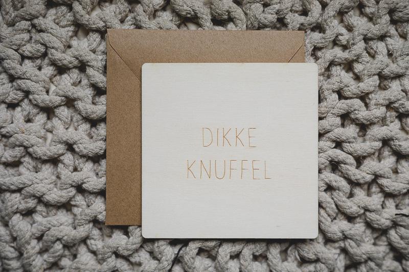 Houten kaart | dikke knuffel