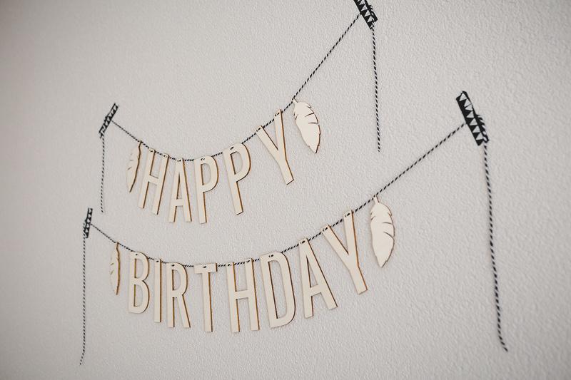 Houten verjaardagsslinger | Happy Birthday - per letter