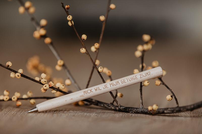 Gepersonaliseerde pen | getuige vragen