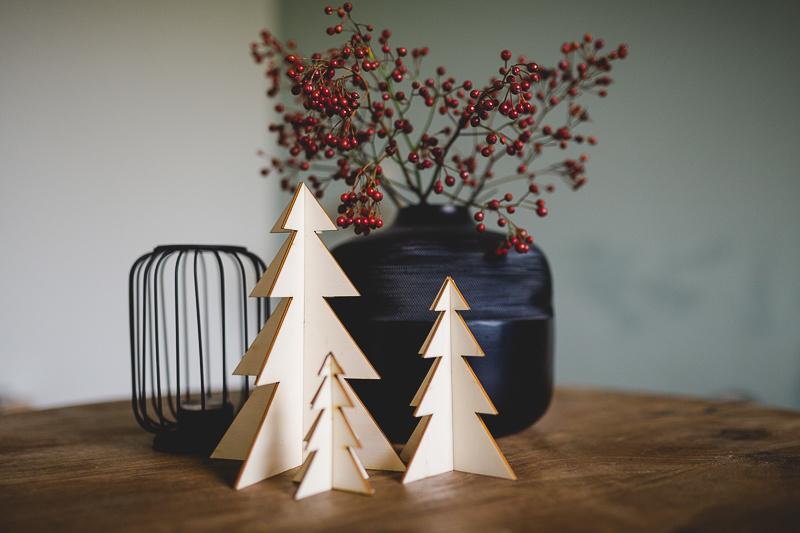 Houten kerstbomen | set
