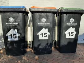 Huisnummerstickers voor containers (3 voor 9,95)