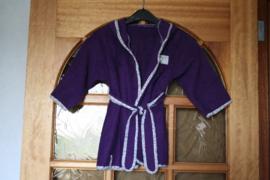 Badjasje (paars met bloemetjes bies)