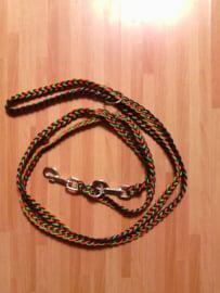 looplijn hondenriem plat gevlochten 1,5 meter
