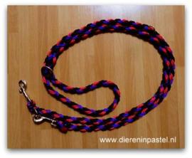 Verstelbare hondenriem rond gevlochten 10mm tot 3 meter