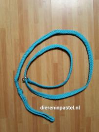 sliplijn plat gevlochten, 2 meter, lichtblauw