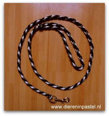 looplijn hondenriem rond gevlochten 10mm tot 1,5 meter