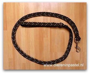 looplijn hondenriem plat gevlochten tot 3 meter