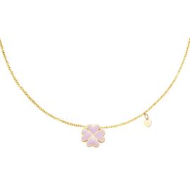 Ketting Klaver - Goud roze
