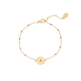 Armband Deco Coin - Roze goud