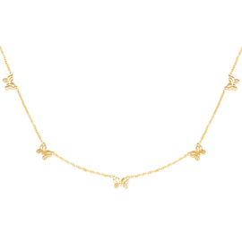 Ketting Little Butterflies - Goud