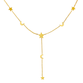 Ketting Moon and stars - Goud