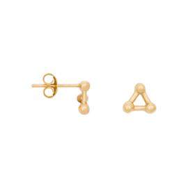 Eline Rosina Triple dots earrings - Goud