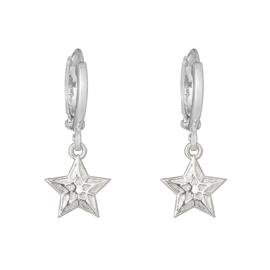 Oorbellen Sparkling Star - Zilver