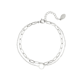 Armband Double Twined - Zilver