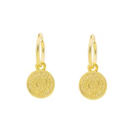 Oorbellen Lucky Coin II - Goud