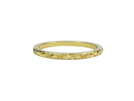 Ring Cross Gold Steel