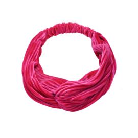Haarband - Rib Velvet Fuchsia