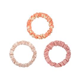 Scrunchie Set - Beige/Roze
