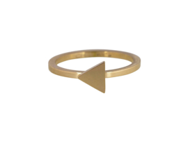 Ring Triangle Gold Steel