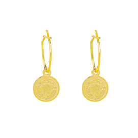 Oorbellen Lucky Coin - Goud
