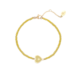 Armband Charm with me - Geel goud