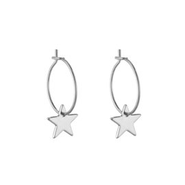Oorbellen Star - Zilver