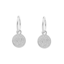 Oorbellen Lucky Coin II - Zilver