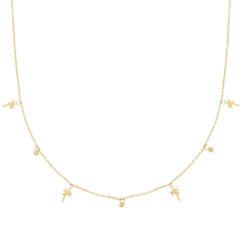 Ketting Feeling Tropical - Zilver