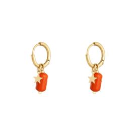 Oorbellen Candy - Oranje