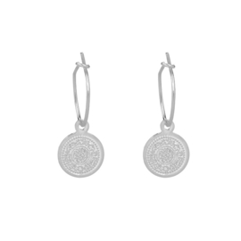Oorbellen Lucky Coin - Zilver