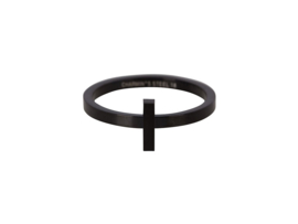 Ring Hope Black Steel