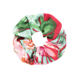 Scrunchie - Happy Flowers Pink