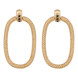 Eline Rosina Door Knocker earrings - Goud